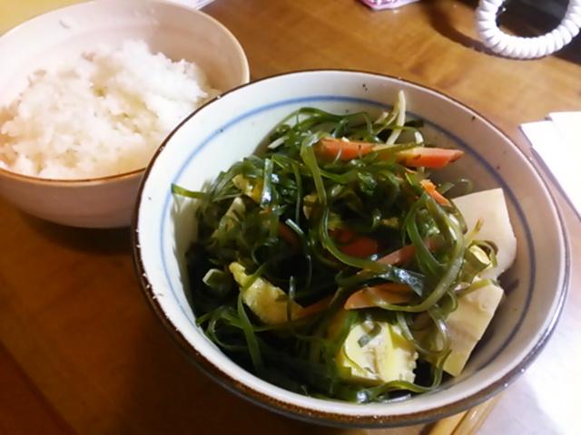 すき昆布煮とご飯