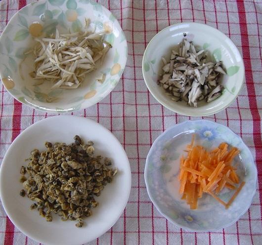 しじみご飯の材料