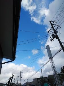 強風の中の青空