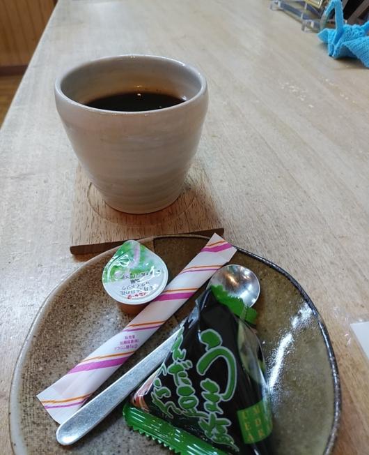 雪だるま物産館のコーヒー